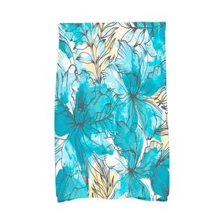 16 X 25 Inch Zentangle Floral Print Hand Towel