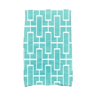 16 x 25 inch Screen Lattice Geometric Print Hand Towel
