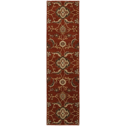 Floral Red Rug - 1'10X7'6
