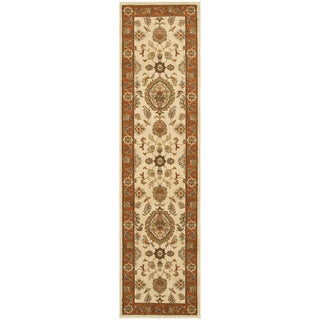 Traditional Floral Beige/ Rust Rug - 1'10X7'6