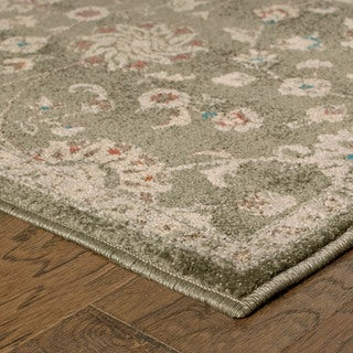 """Updated Traditional Floral Grey/ Multi Rug (2'3 X 7'6) - 2'3"""" x 7'6"""""""