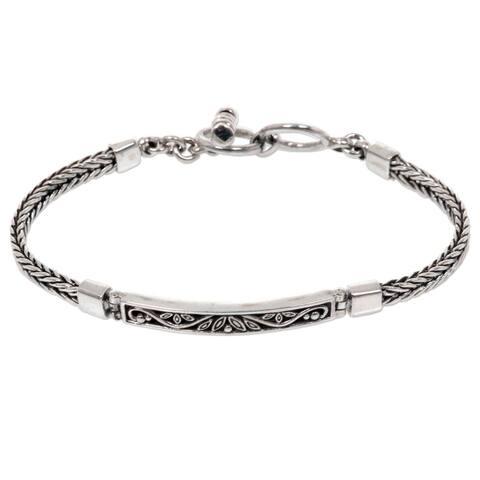 NOVICA Handmade Sterling Silver Celuk Sprout Bracelet (Bali)