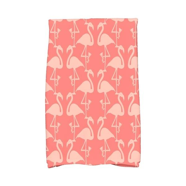 16 x 25 inch Flamingo Heart Martini Animal Print Hand Towel