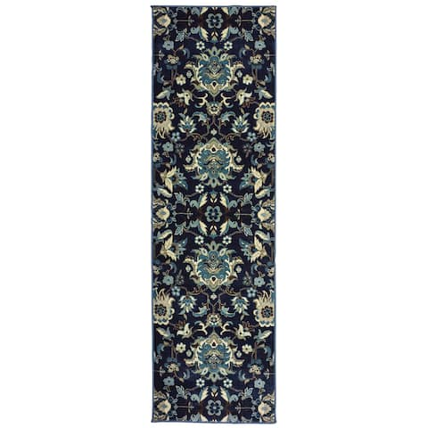 Copper Grove Chives Flowers Area Rug