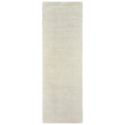 Gracewood Hollow Arysdaghes Grey Plush Hand-tufted Runner Rug - 2'6 x 8'