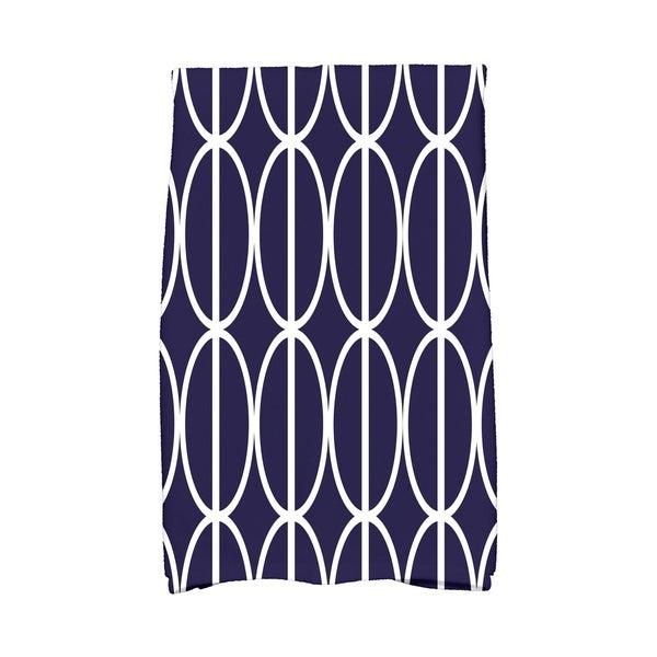 16 x 25 inch Ovals Go 'Round Geometric Print Hand Towel