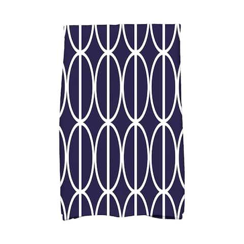 18 x 30 inch Ovals Go 'Round Geometric Print Hand Towel