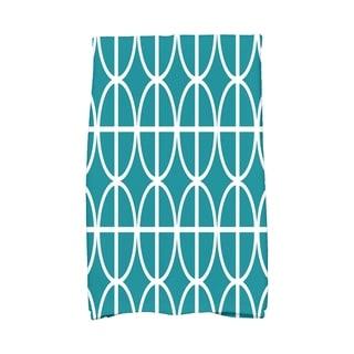 16 x 25 inch Ovals and Stripes Geometric Print Hand Towel
