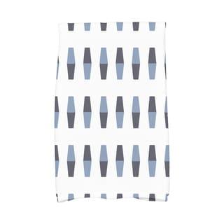 16 x 25 Inch Bowling Pins Geometric Print Hand Towel