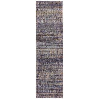 Oliver & James Parada Purple Tonal Runner Rug - 2'3 x 8'