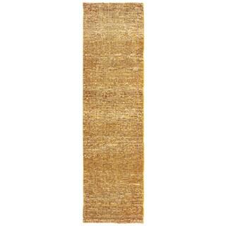 Tonal Textured Gold/ Yellow Area Rug (2'3 X 8')