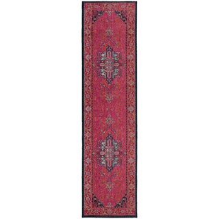 "The Curated Nomad McGaa Traditional Oriental Pink/ Blue Runner Rug - 2'7"" x 10' Runner"