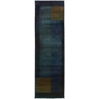 Kharma II Blue/ Gold Rug (2'6X9'1)