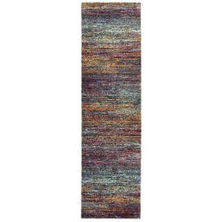 "Textural Stripes Multi/ Multi Area Rug (2'6 X 12') - 2'6"" x 12' Runner"
