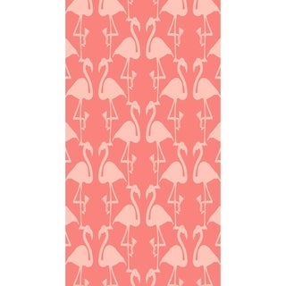 16 x 25 inch Flamingo Heart Martini Animal Print Kitchen Towel