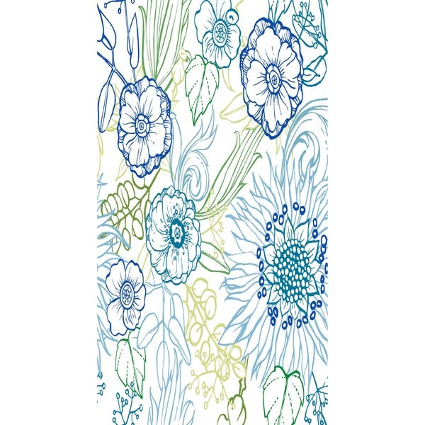 16 X 25 Inch Zentangle 4 Color Floral Print Kitchen Towel Overstock 19683517