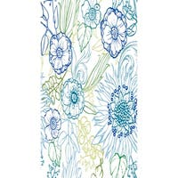 16 X 25 Inch Zentangle 4 Color Floral Print Kitchen Towel