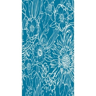 16 X 25 Inch Zentangle 4 Floral Print Kitchen Towel