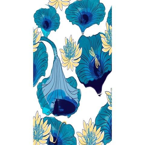 18 x 30 Inch Lotokoi Floral Print Kitchen Towel