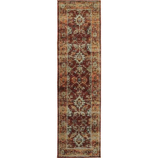 """Persian Inspirations Traditional Red/ Gold Rug (2'6 X 12') - 2'6"""" x 12'"""