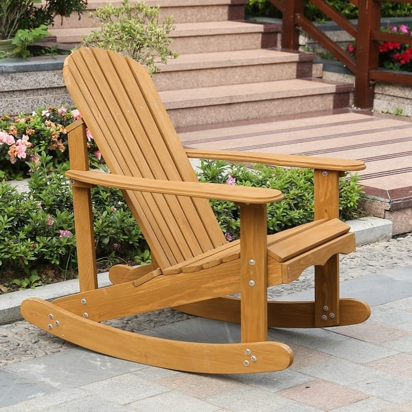 Hemlock Adirondack Rocker On Free Shipping