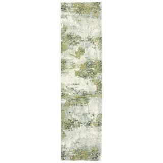 "Calina Haze Blue/Green Area Rug (2'6X12') - 2'6"" x 12' Runner"