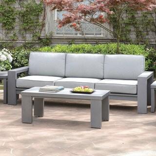 Furniture of America Luva Modern Grey Weather Resistant Patio Sofa