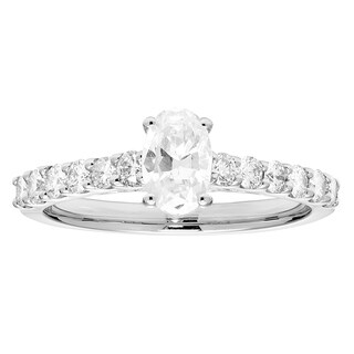 1ct Certified Bridal with 1/2CT Oval Cut Center