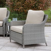 Furniture of America Sloan Contemporary Grey & Beige Patio Chair