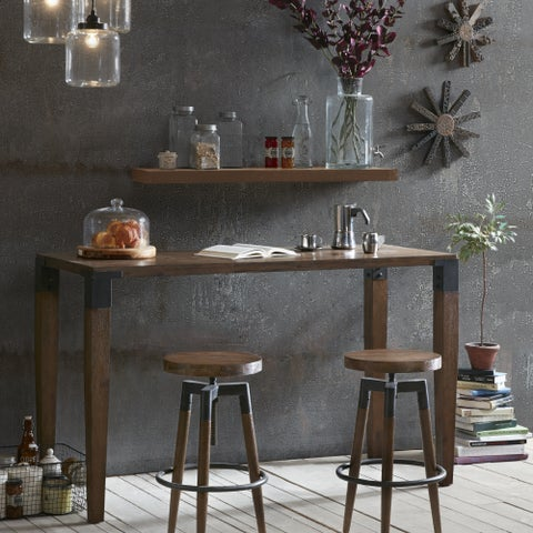 INK+IVY Frazier Brown Counter Table