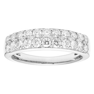 Sofia 14k White Gold 1ct TDW Certified Diamond Wedding Band