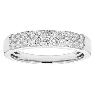 Sofia 14k White Gold 1/2ct TDW Certified Diamond Wedding Band