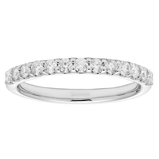 Sofia 14k White Gold .45ct TDW Certified Diamond Wedding Band