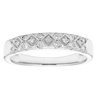 Sofia 14k White Gold 1/4ct TDW Certified Diamond Wedding Band