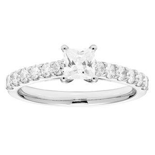 1ct Certified Bridal with 1/2CT Princess Cut Center