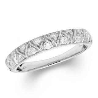 Sofia 14k White Gold 1 4ct Tdw Certified Diamond Wedding Band