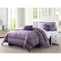 Carmela Home Harris 7-Piece Reversible Comforter Set