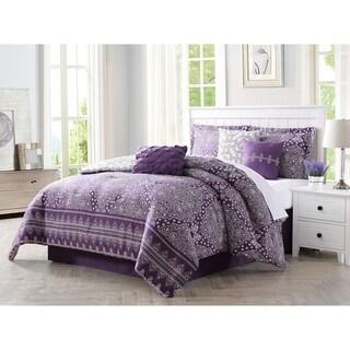 Carmela Home Harris 7 Piece Reversible Comforter Set