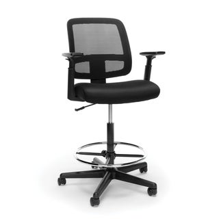 Model E3036 Essentials by OFM Mesh Back Stool with Adjustable Arms