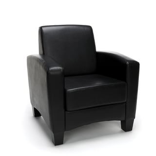 Essentials Collection Traditional Reception Arm Chair, in Black (ESS-9050-BLK)