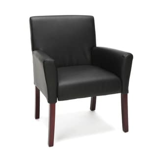 Model ESS-9025 Essentials by OFM Executive Armed Guest Chair with Wooden Legs