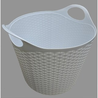 Flex Wicker Tub White, 2 Pack