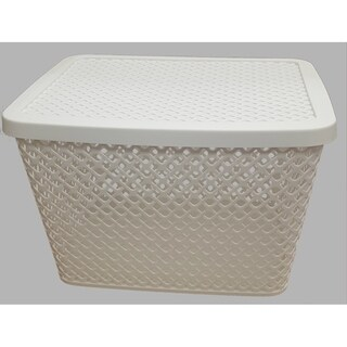 3 Pack Deco Baskets-Grey