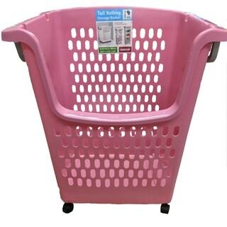 Stackable Rolling Hamper - Pink