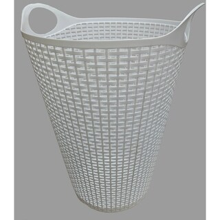 Flex Wicker Laundry Basket White, 2 Pack