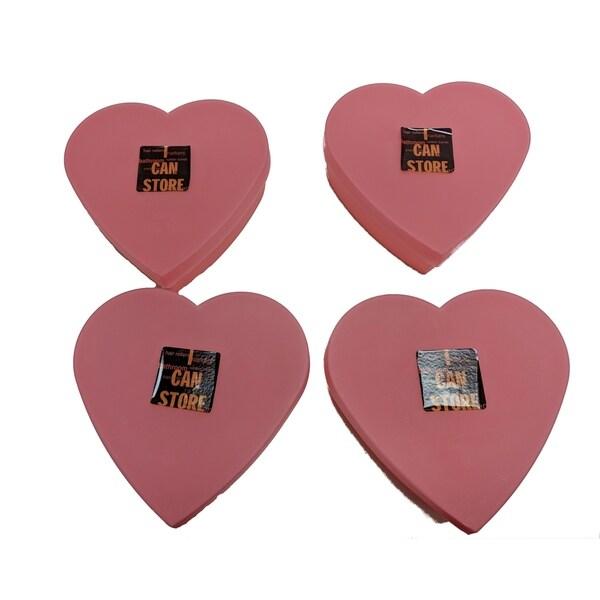 4-Pack Heart shape box Pink
