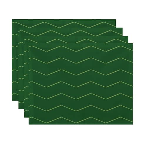 18 x 14 Inch Harlequin Stripe Geometric Print Placemat (set of 4)
