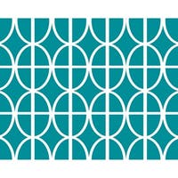 18 x 14 Inch Ovals and Stripes Geometric Print Placemat (set of 4)