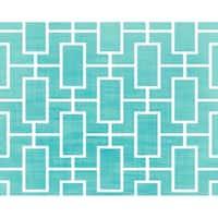 18 x 14 Inch Screen Lattice Geometric Print Placemat (set of 4)