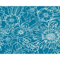 18 x 14 inch Zentangle 4 Floral Print Placemat (Set of 4)